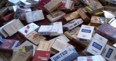 ضبط 1000 علبة سجائر مجهولة المصدر بحملة تموينية على الأسواق فى سوهاج