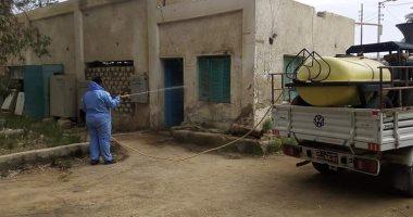 """صور.. رش وتعقيم محطات تنقية مياه الشرب بمدينة الخارجة للوقاية من """"كورونا"""""""