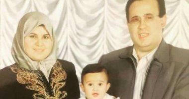 إصابة زوجة الشهيد اللواح بكورونا ونقلها لمستشفى الحجر  بجوار ابنتها.. صور