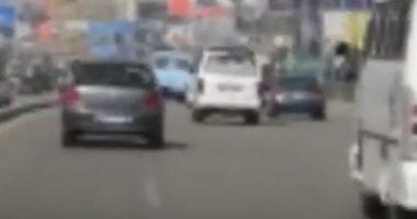 فيديو.. انسياب مرورى أعلى كوبرى أكتوبر من التحرير حتى المهندسين