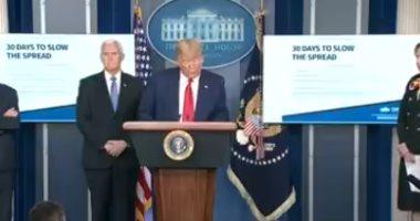 ترامب: نأمل أن تتمكن الشركات من تصنيع المعدات اللازمة لمكافحة كورونا