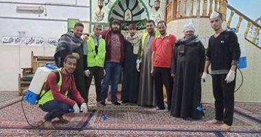 شباب الحواتكة باسيوط ايد واحده فى حملة تطهير القرية من كورونا