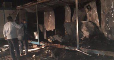 صور.. السيطره على حريق فى كرفانات المهندسين بالمنطقة الصناعية الجديدة بالمحلة