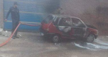 مصرع قائد سيارة وابنته فى حريق سيارة بطريق القاهرة الإسكندرية بالقليوبية