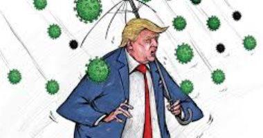 كاريكاتير كويتى يسلط الضوء على تفشى كورونا بين سكان الولايات المتحدة