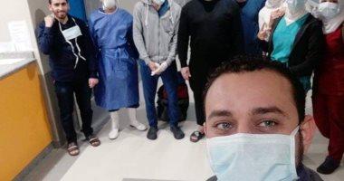 خروج 6 حالات تعافى جديدة من مستشفى أبو خليفة للحجر الصحى بالإسماعيلية..صور