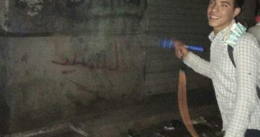 قارئ يشارك بصورة لتطهير أهالى قرية السعيدية بالشرقية للبيوت