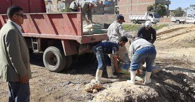 حملة لرى سوهاج لتطهير الترع من المخلفات بمركز ساقلته وتعقيم وتطهير الشوارع