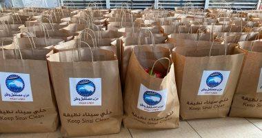 """صور.. """"مستقبل وطن"""" يوزع مواد غذائية على متضررى """"كورونا"""" في جنوب سيناء"""