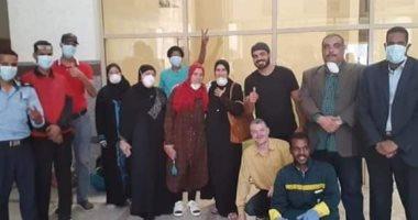"""خروج 7 حالات جديدة من متعافى """"كورونا"""" بمستشفى العزل بأسوان"""