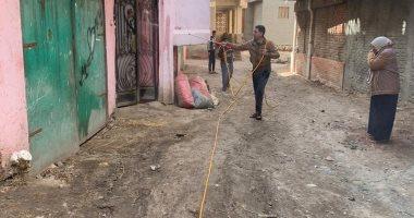 تطهير وتعقيم قرية الملعب بمركز بقاس فى الدقهلية للوقاية من كورونا