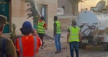 شباب قليوب يطهرون مكاتب البريد بعد انتهاء مواعيد صرف المعاشات