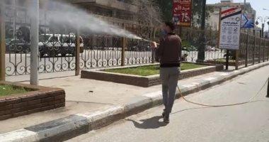 أهالى طنطا يشاركون صحافة المواطن بصور أثناء تطهير الشوارع للوقاية من كورونا