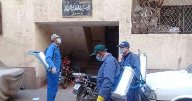 فض سوقين بإحدى القرى وتعقيم المصالح الحكومية وإزالة تعديات بكفر الشيخ