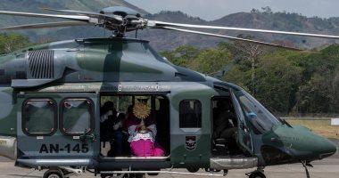 """فى زمن كورونا.. كنيسة بنما تقيم قداس """"أحد الشعانين"""" بهليكوبتر.. فيديو وصور"""
