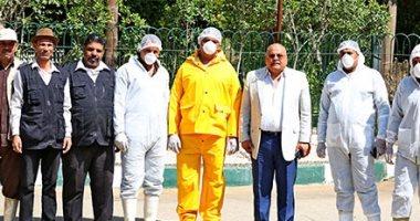 17 صورة ترصد جهود مسئولى حديقة حيوان الجيزة للوقاية من فيروس كورونا