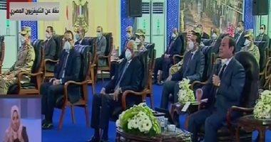 الرئيس السيسى: 6 مستشفيات جاهزة للافتتاح.. وجيش مصر يدعو للفخر