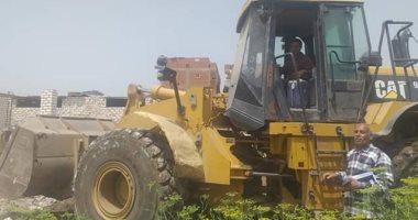 إزالة 8 حالات تعدى على أملاك الدولة والأراضى الزراعية بالمنيا
