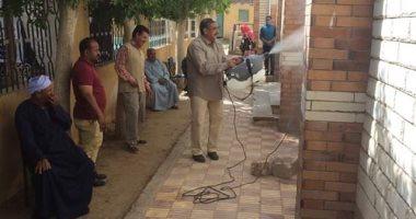 """""""مياه المنيا"""": تعقيم وتطهير شوارع بنى مزار لمواجهة فيروس كورونا"""