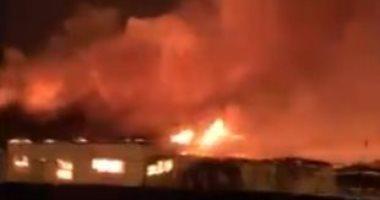 فيديو.. اشتعال النيران قرب سجن فى طهران