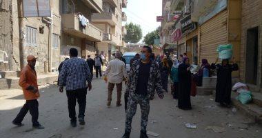 قوات الشرطة بشبين القناطر تفض سوق الأحد الأسبوعى لمواجهة كورونا
