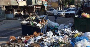 سيبها علينا.. قارئ يشكو تراكم القمامة بشارع إمام الحسينى برمسيس