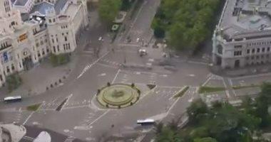 """طائرات """"الدرون"""" تظهر تحول العاصمة الإسبانية مدريد لبيت مهجور.. فيديو"""