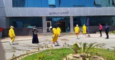 صور.. حملات يومية للتعقيم والتطهير فى مختلف مستشفيات بورسعيد لمواجهة كورونا
