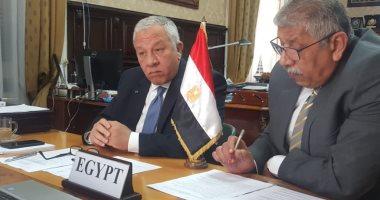 مصر تشارك بالاجتماع الافتراضى للجنة الفرعية للنقل بمفوضية الإتحاد الأفريقى