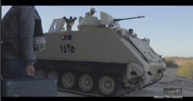 بيتر ميمى ينشر فيديو من وراء كواليس تصوير مشهد هجوم كمين العريش بمسلسل الاختيار