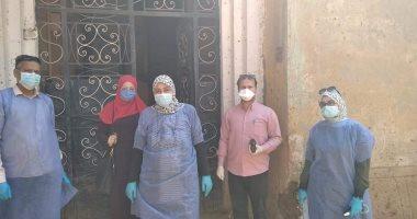 عزل منزل بقرية الدير بطوخ بعد إصابة أحد أفراده بكورونا