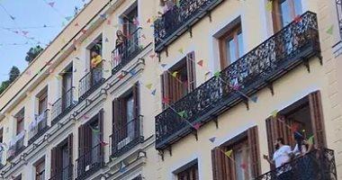 بين النوافذ والشرفات.. مدريد تحتفل بعيدها القومى