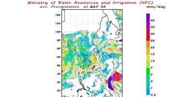 توقعات بسقوط أمطار خفيفة إلى متوسطة اليوم على منابع النيل