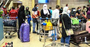 مطار القاهرة يستقبل 496 من المصريين العالقين بعدة دول على متن 3 رحلات