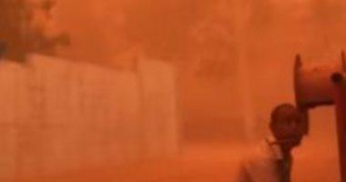 سقوط أشجار وأعمدة كهرباء بسبب سوء الأحوال الجوية بمدينة إسنا فى الأقصر