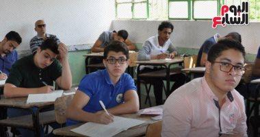 """التعليم:586 ألف طالب بأولى ثانوى يؤدون اختبار """"الفلسفة والمنطق"""" إلكترونيًا"""