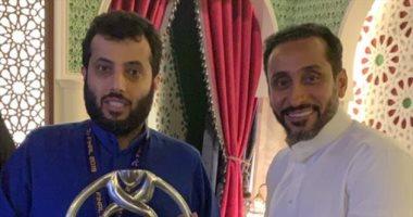 تركى آل الشيخ فى صورة جديدة مع سامى الجابر: لا عزاء للحسابات الوهمية