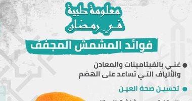 إنفوجراف.. معلومة طبية رمضانية.. ليه لازم تأكل المشمش المجفف على الفطار؟