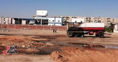 أول صور للسيارة المحملة بـ45 طن بنزين بعد السيطرة على حريق محطة وقود العاشر اليوم السابع