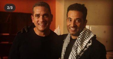 """شاهد.. عمرو سعد ينشر صورا جديدة من كواليس مسلسل """"الاختيار"""""""