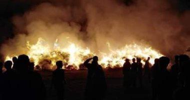 السيطرة على حريق هائل بمصنع كتان بقرية شبرا ملس فى الغربية