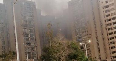 قارىء يشارك بأول صور لحريق فى عمارات العبور بصلاح سالم  وقت الإفطار
