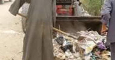 حملات نظافة مكبرة بالوحدات بمدينة البلينا بسوهاج وازالة التعدى على أراضى زراعية