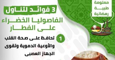 إنفوجراف.. معلومة طبية رمضانية.. فوائد تناول الفاصوليا الخضراء على الفطار
