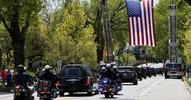 جنازة عسكرية لشرطى أمريكى توفى بكورونا فى نيوجيرسى