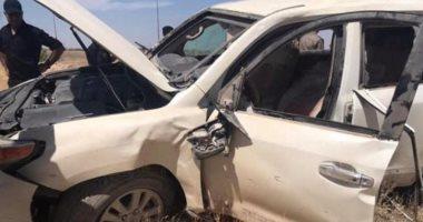 """صورة إصابة 3 أشخاص فى حادث تصادم سيارتين بطريق """"ههيا- الزقازيق"""""""