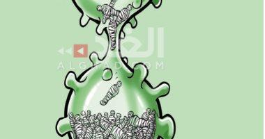 كاريكاتير صحيفة أردنية.. فيروس كورونا يحصد المزيد من الأرواح