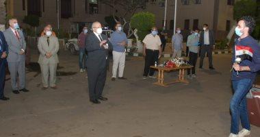 وصول 3 أفواج للعائدين من الخارج لمدينة جامعة القاهرة لقضاء الحجر الصحى