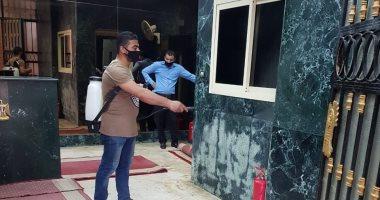 تعقيم مبنى وزارة التنمية المحلية بعد زيارة محافظ الدقهلية المصاب بكورونا.. صور
