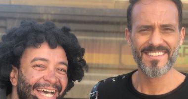 """فركش.. يوسف الشريف وحسام داغر من أخر يوم تصوير لمسلسل """"النهاية"""""""